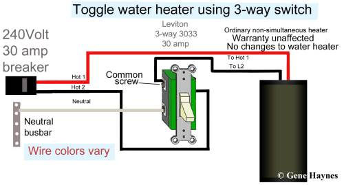 small resolution of how to wire water heater with two switches 20 amp 240v heater wiring diagram