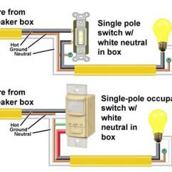 Spst Switch Wiring Diagram 2003 Chevy Silverado 1500 Radio How To Wire Occupancy Sensor And Motion Detectors