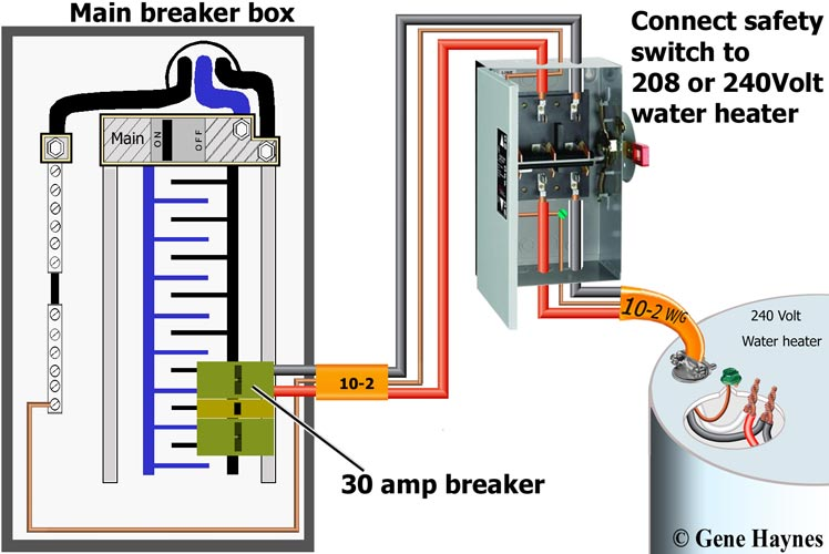 hot water heater thermostat wiring diagram basketball court with notes 30 amp breaker schematic a 50 circuit