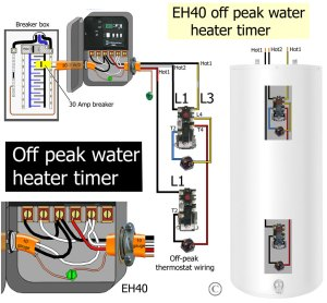 How to wire offpeak water heater thermostats: