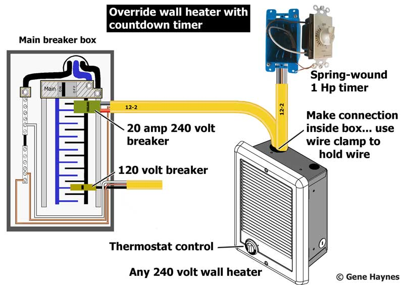 Override Bathroom Heater With Timer