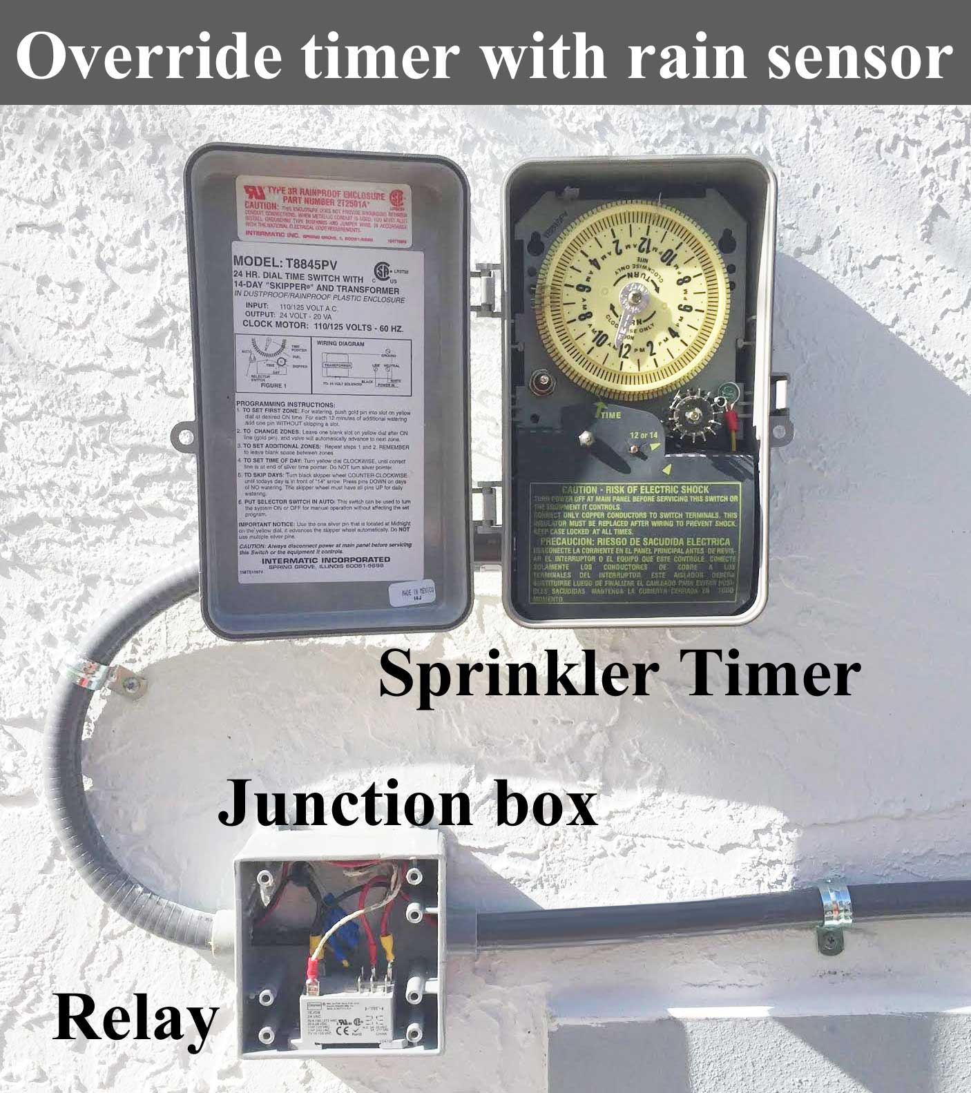 hight resolution of override sprinkler timer with rain sensor larger image