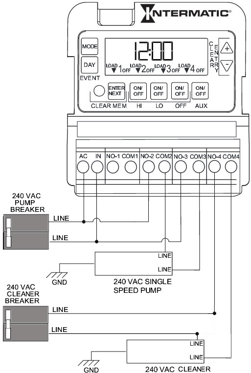 intermatic photocell wiring diagram 240 volt  1965 mustang