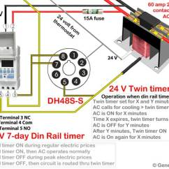 Time Delay Relay Circuit Diagram Vauxhall Zafira Wiring How To Wire Twin Timer Override Air Conditioner Thermostat Or Any Using Dh48s Note The Illustration Shows Terminals On Opposite Side From