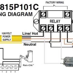110 Volt Wiring Diagram Panel How To Wire Intermatic Sprinkler And Irrigation Timers Manuals R8815p101c