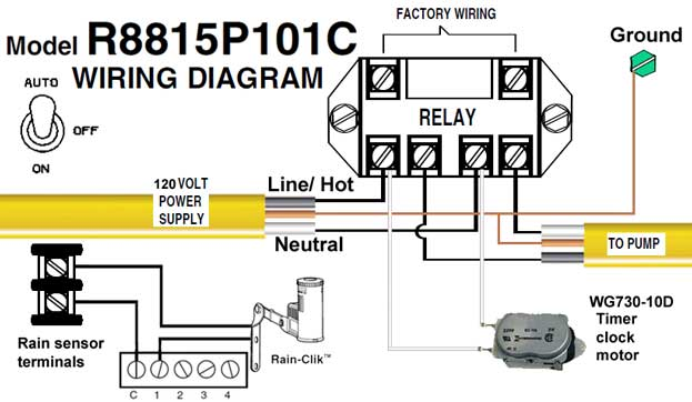 110 volt wiring diagram radio for 2003 ford f150 how to wire intermatic sprinkler and irrigation timers manuals r8815p101c