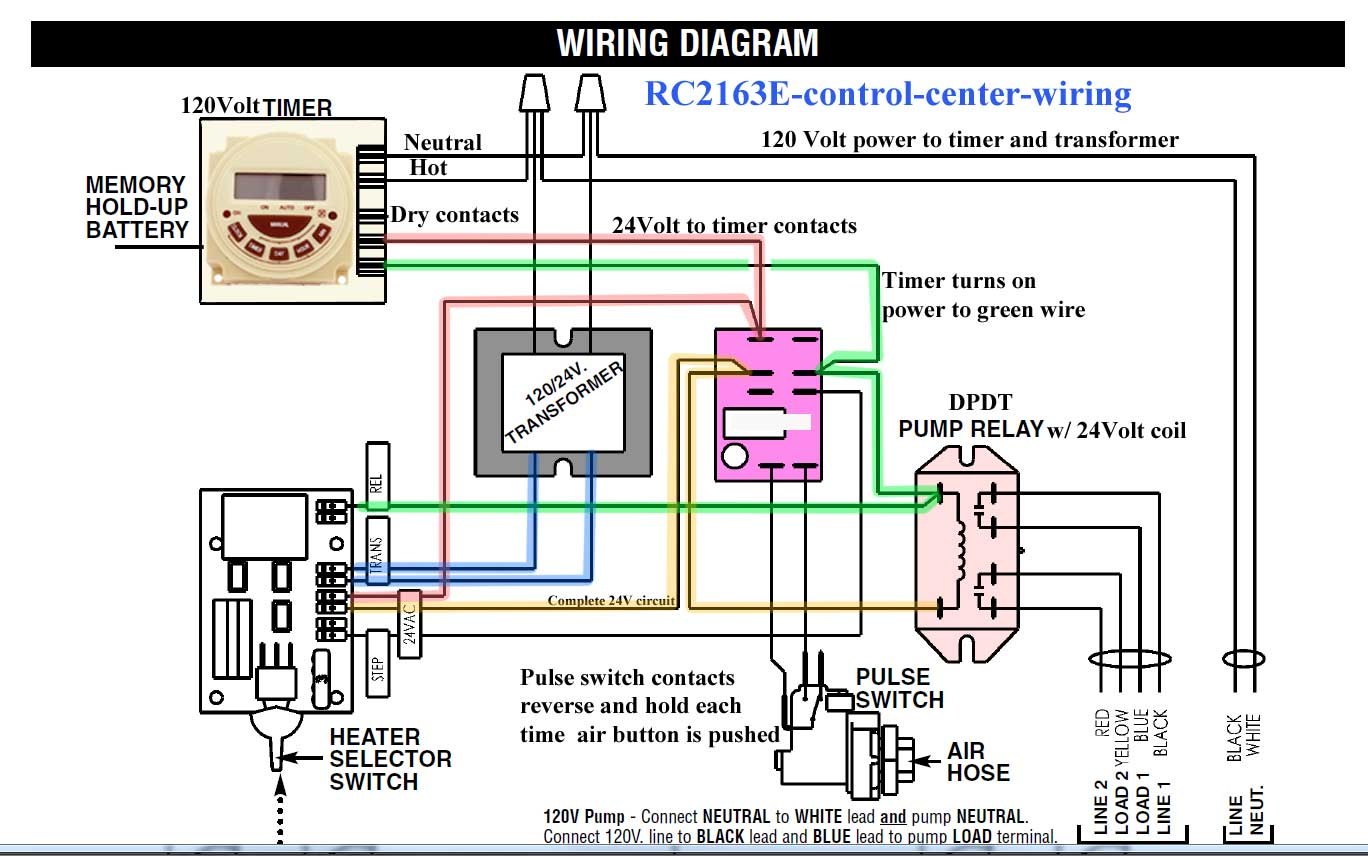 Time Clock Switch Wiring Diagram Pool T103