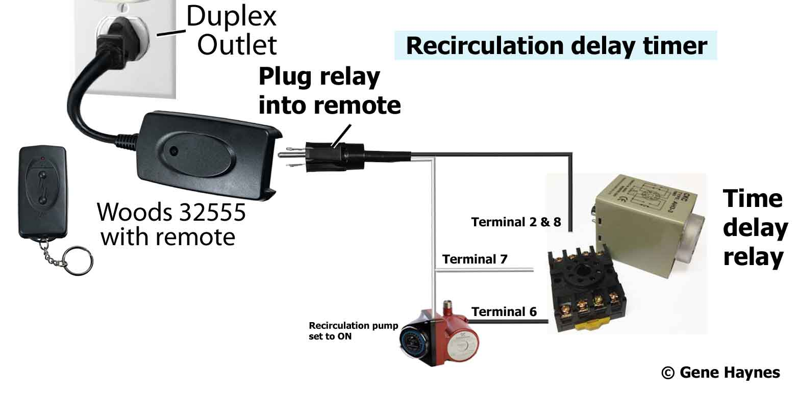 hight resolution of delay timer turns on when remote control turns on countdown begins pump is on when delay period ends timer turns off pump turns off