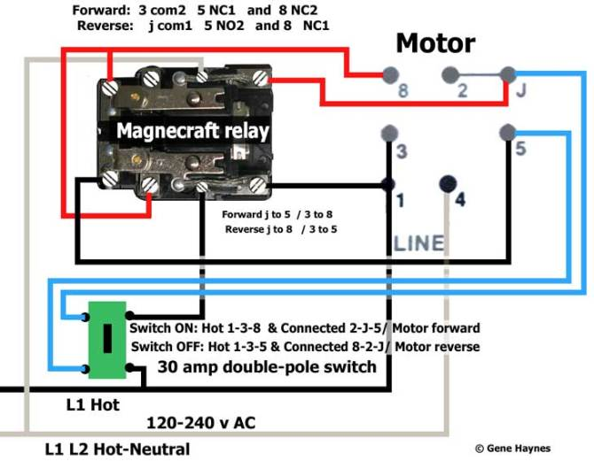 how to reverse motor with switch