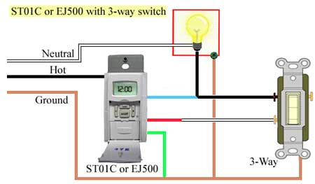 3 light switch wiring diagram 96 honda civic hatchback stereo how to program and install st01c timer