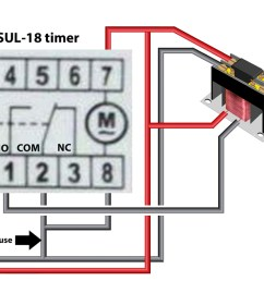 larger image sul 18 timer use contactor to control heavy amp loads protect timer with 15 amp fuse [ 1400 x 632 Pixel ]