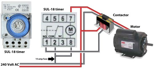 small resolution of larger image sul 18 timer use contactor to control heavy amp loads protect timer with 15 amp fuse
