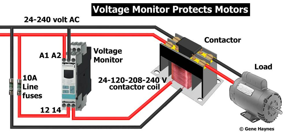 medium resolution of rated 24 240 volt ac why use voltage monitor the problems of low voltage and phase fluctuation lower voltage on one wire do not affect resistance loads