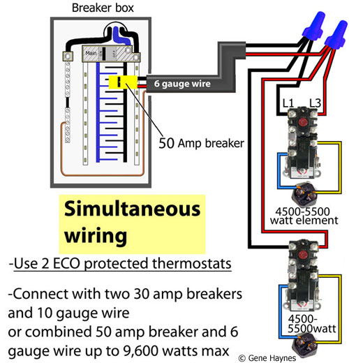 3 phase electric water heater wiring diagram 2000 yzf r6 how to wire thermostats simultaneous