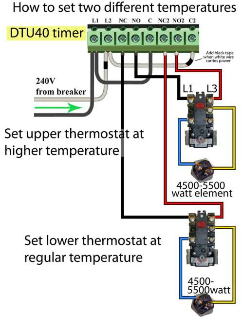 small resolution of 240 volt use timer for two different temperatures on electric water heater
