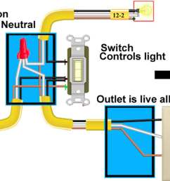 wiring a switch from plug wiring diagram schema img combination switch receptacle wiring wiring diagram light [ 1200 x 851 Pixel ]