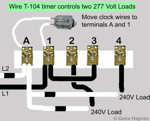 small resolution of larger image t 104 two 277 volt loads move motor leads to terminals a and 1 add jumper from terminal 1 to terminal 3