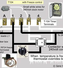 how to wire intermatic t104 and t103 and t101 timers 240 volt timer wiring diagram [ 989 x 800 Pixel ]