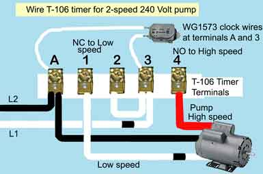 contactor wiring diagram fpv racing drone pool pump timer hub how to wire hayward 2 speed