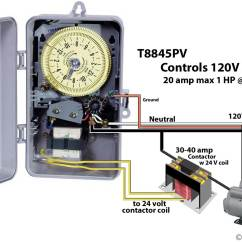 110 Volt Wiring Diagram Single Pole Electric Elevator E100 How To Wire Intermatic Sprinkler And Irrigation Timers Manuals Larger Image