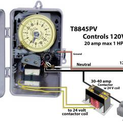 or install 20 amp line fuse between incoming hot wire and timer and this will allow timer to control any voltage load [ 1396 x 917 Pixel ]