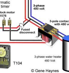 how to wire water heater thermostats rh waterheatertimer org 3 phase transformer wiring 480v 3 phase [ 1379 x 1001 Pixel ]