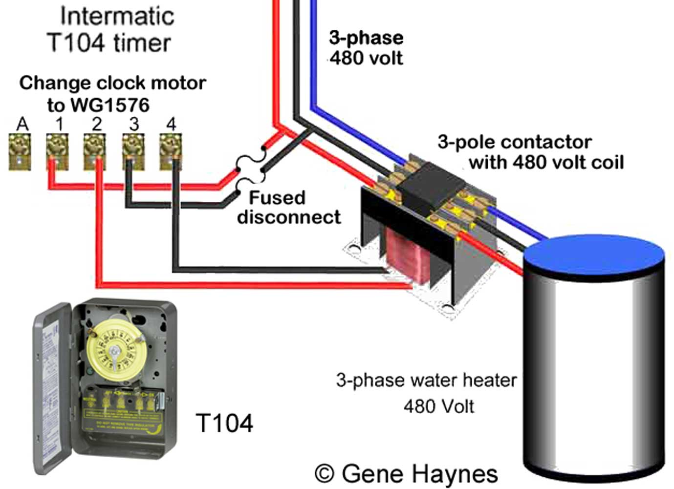 hight resolution of 480volt timer control 480 v 3 phase using t104 timer change 240v wg1573 clock motor to wg1576 clock motor