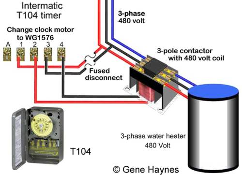 small resolution of control 480 v 3 phase using t104 timer change 240v wg1573 clock motor to wg1576 clock motor