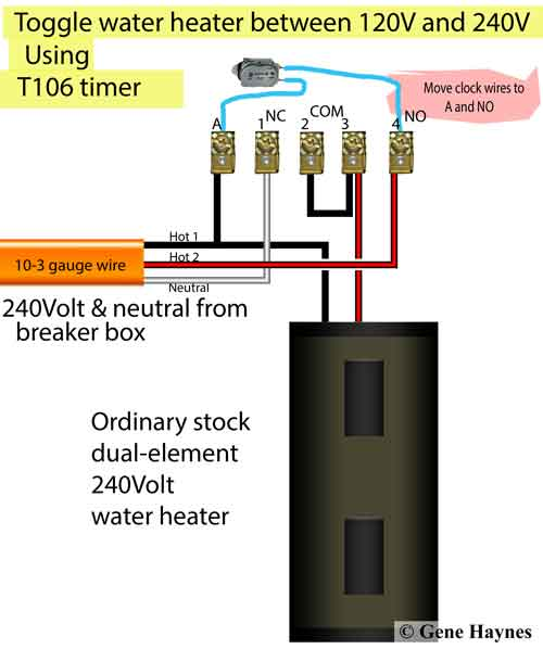 hot water tank wiring diagram 2000 chevy blazer trailer how to wire heater for 120 volts t106 timer toggle