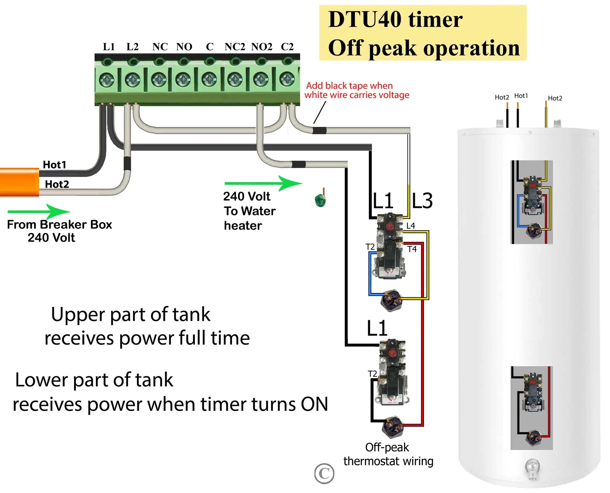hight resolution of larger image how to wire water heater thermostats