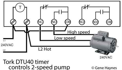 How to wire Tork DTU40 timer: