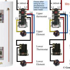 3 Wire Thermostat Wiring Diagram Cb400 How To Troubleshoot Electric Water Heater Illustrated On Right Will Not Prevent Cracked Element It Only Mask Problem Of Lower And