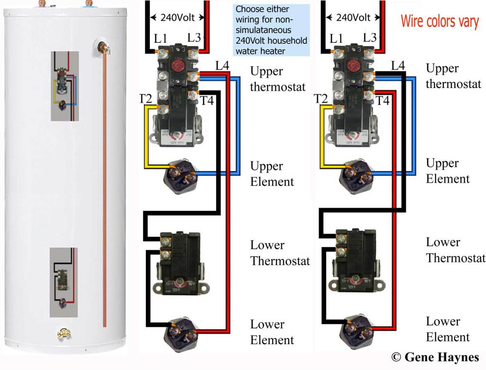 medium resolution of how to wire water heater thermostats lower a hot water thermostat wiring