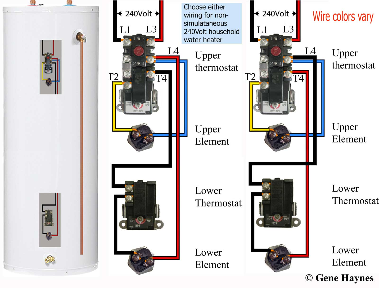 hight resolution of how to wire water heater thermostats lower a hot water thermostat wiring