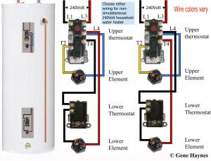 How to wire water heater thermostats
