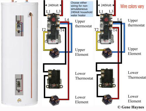 small resolution of wiring diagram illustrated on right will not prevent cracked element it will only mask problem of cracked element on lower element and prevent cracked