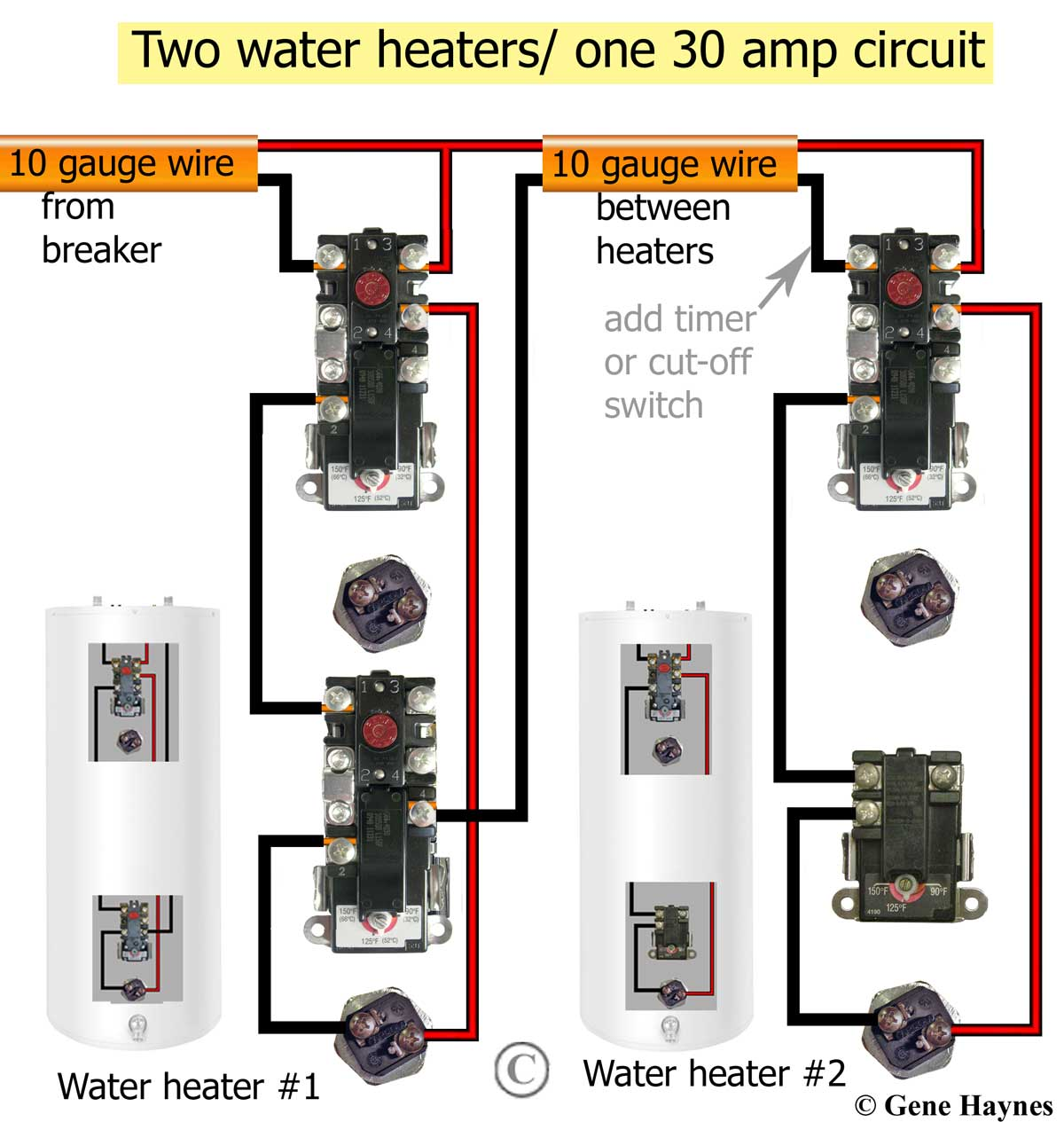 hight resolution of how to wire water heater thermostats craft master water heater diagram for wiring a 240v
