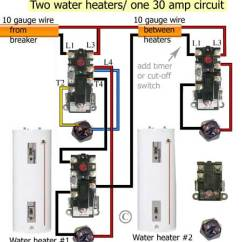 Wiring Diagram For Two Element Hot Water Heater Gibson P90 Pickup Heating Schema How To Install Heaters