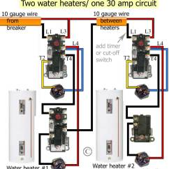 3 Phase Electric Water Heater Wiring Diagram Pdca Cycle How To Wire Thermostats Simultaneous Will Heat Top Of Tank First Redundant Turn On As Soon Cold Enters Works