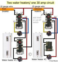 larger image non simultaneous thermostats control 2 water heaters simultaneous wiring will heat top of tank first redundant will turn on as soon as cold  [ 1100 x 1160 Pixel ]