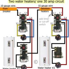 Ao Smith Wiring Diagram Roller Shutter Door Switch How To Wire Water Heater Thermostats Two Heaters