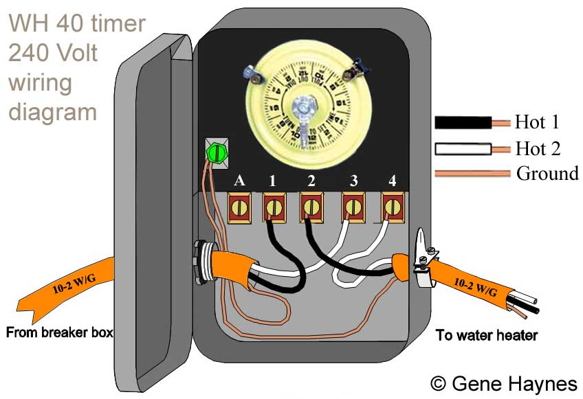 water heater timer wiring diagram 2005 dodge ram trailer how to wire wh40 larger image