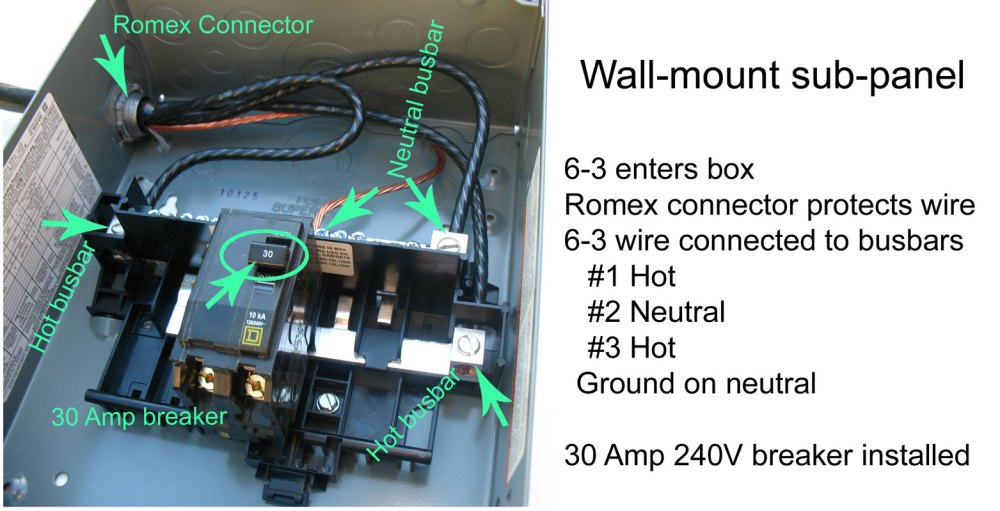 medium resolution of larger image of subpanel the ground wire in this photo should be moved to separate busbar and not connected to neutral busbar