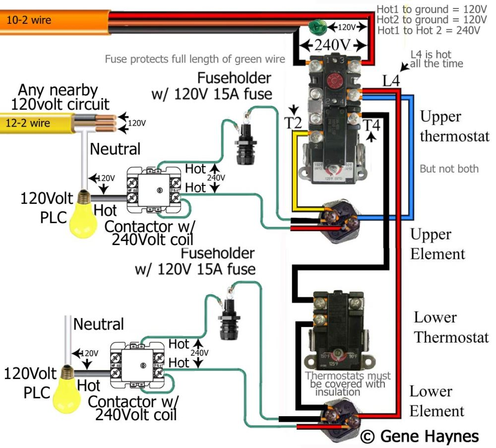 medium resolution of how to wire water heater pilot lightcontactor or relay with 240 volt coil is needed 240