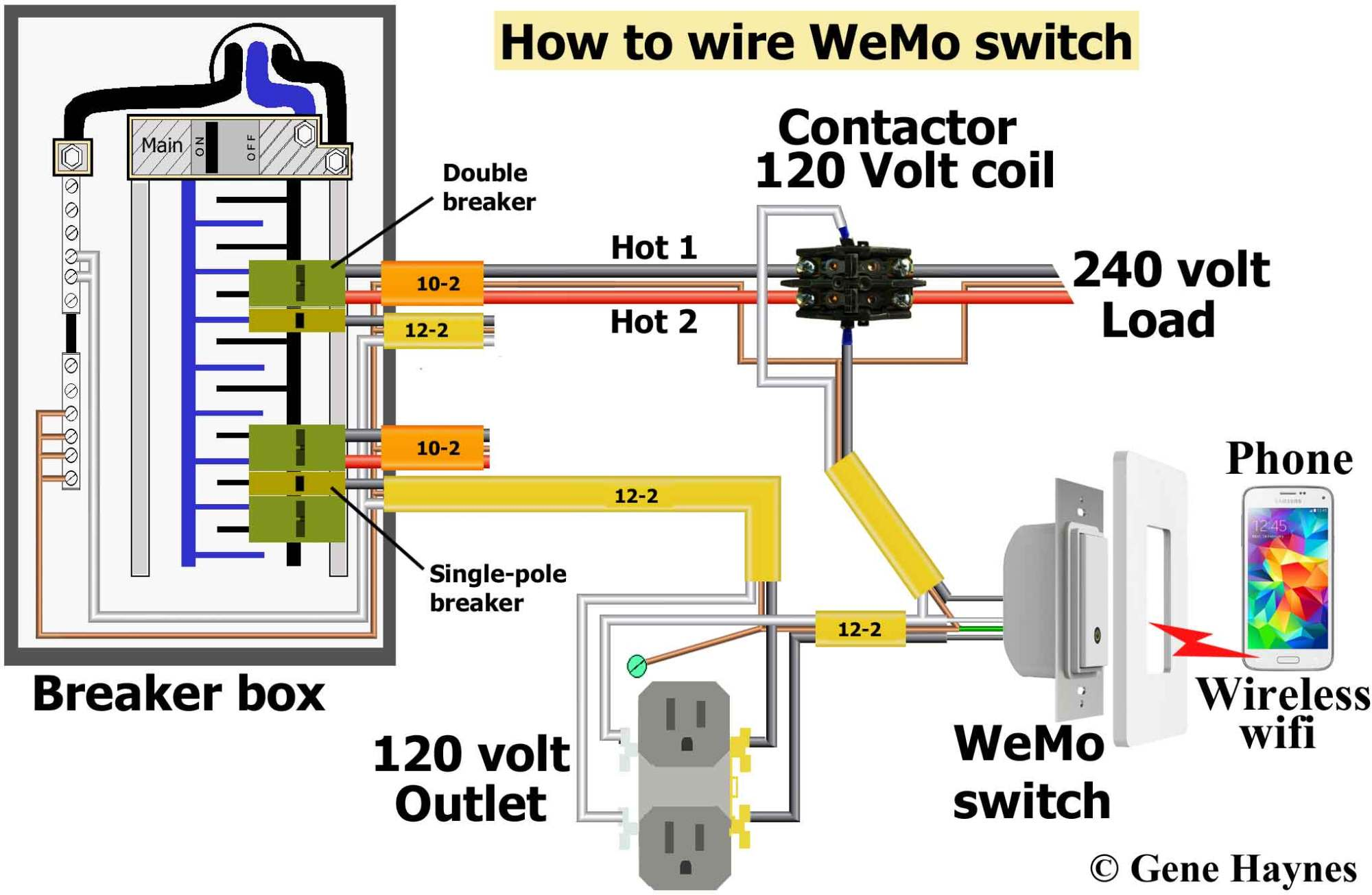 hight resolution of larger image how to wire wemo switch hardwire do not use stranded wire under screw plates buy wemo switch contactor with 120 volt coil