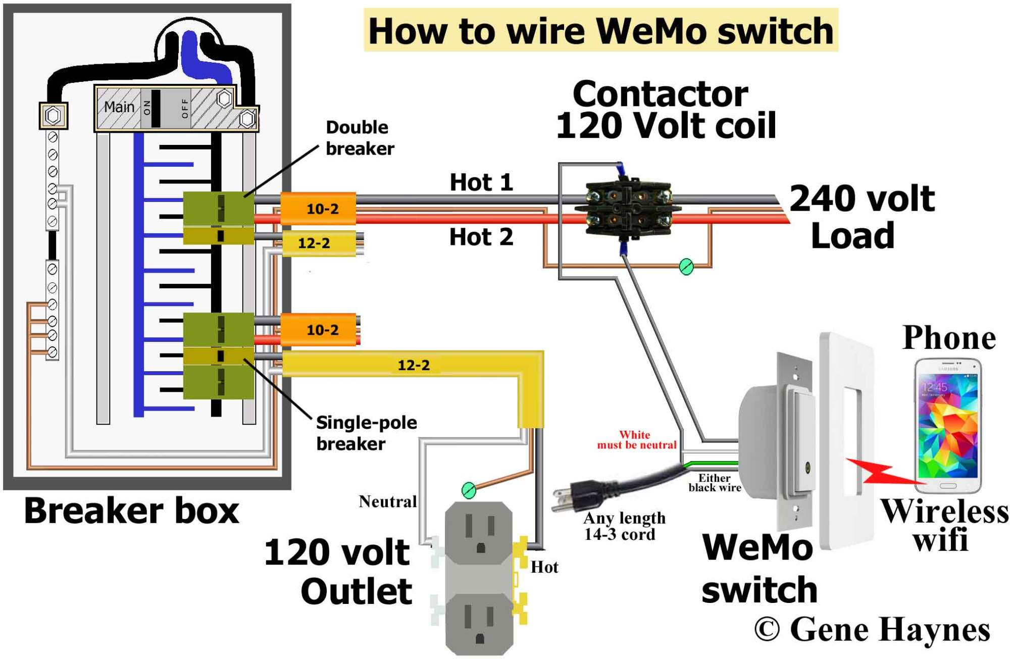 hight resolution of  how to wire wemo switch same as above except using extension cord instead of hardwire 120 volt outlet has hot and neutral wires as illustrated 3 prong