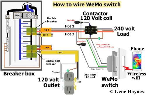 small resolution of wiring for switch and contactor coil wiring diagram source hvac contactor relay wiring diagram control 240