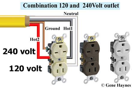 120v  240v outlets on the same circuit rbrjr1