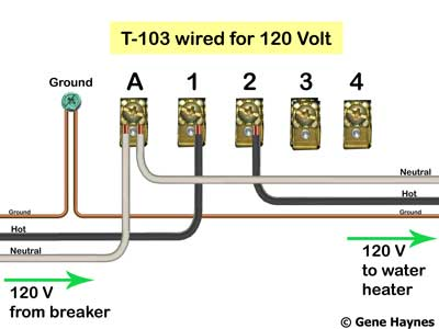 110 volt wiring diagram 2007 club car precedent gas how to wire t103 timer t 103 120
