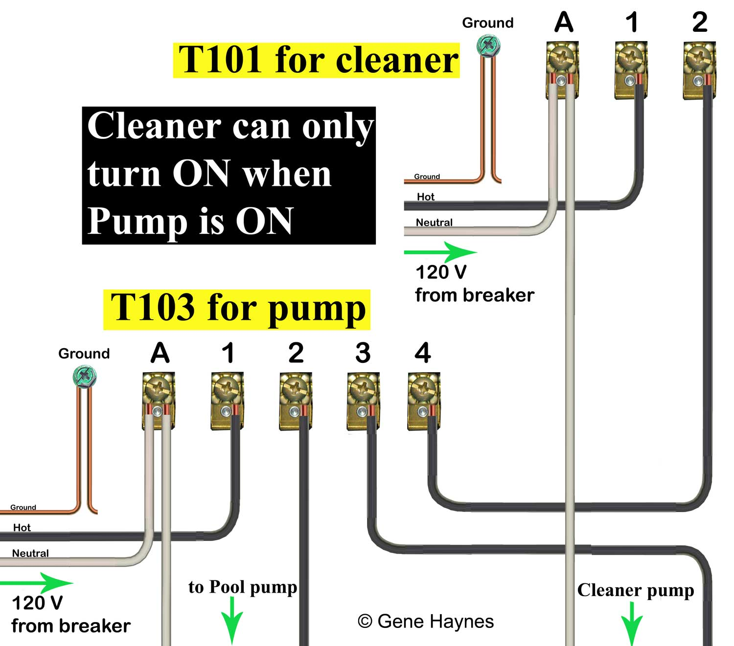 110 volt wiring diagram single wire alternator how to t103 timer larger image